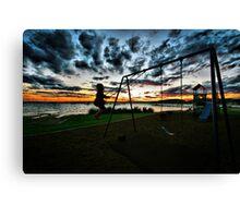 SWINGING SUNSET Canvas Print