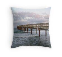 St. Johns Pier Throw Pillow