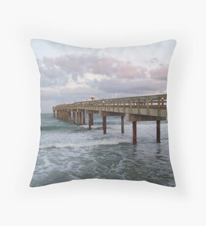 St. Johns Pier Throw Pillow