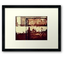 You Held My Hand Softly Through the Humid Summer Streets Framed Print