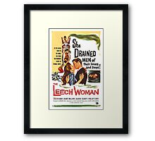Leech Woman She Drained Men of Their Loves and Lives Framed Print