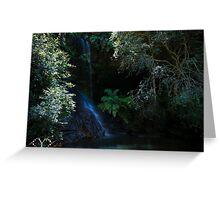 Blue Mountains Waterfall Greeting Card