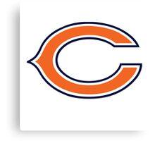 chicago bear logo Canvas Print