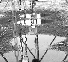 Swings-black and white by FamlyPhoto