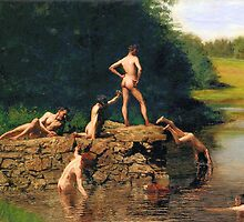 The Swimming Hole by Thomas Eakins by troycap