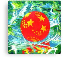 Red Ball in the Water Canvas Print