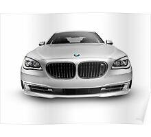 BMW 7 series 750Li Individual luxury car front view art photo print Poster