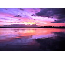 Pulsing Purple Sunset Photographic Print