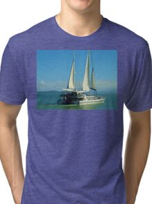Sailing at Port Douglas Queensland Australia  Tri-blend T-Shirt