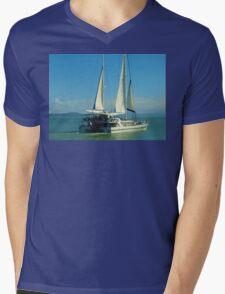 Sailing at Port Douglas Queensland Australia  Mens V-Neck T-Shirt