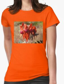 Sturts Desert Pea Womens Fitted T-Shirt