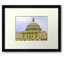 US Capitol Building Washington DC June of 2006 Framed Print