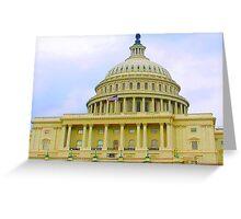 US Capitol Building Washington DC June of 2006 Greeting Card