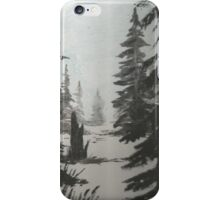 Black and white winter forest iPhone Case/Skin