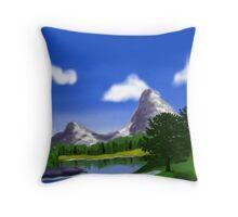 Digital Landscape Throw Pillow