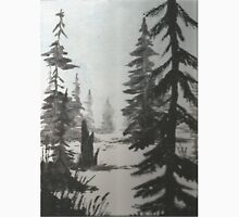 Black and white winter forest Unisex T-Shirt