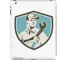 Mechanic Holding Spanner Front Shield Retro iPad Case/Skin