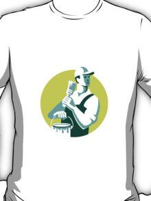 House Painter Paintbrush Paint Circle Retro T-Shirt