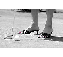 Golfing is Fashionable Photographic Print