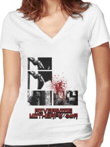 Riverside Motherfucker! Women's Fitted V-Neck T-Shirt