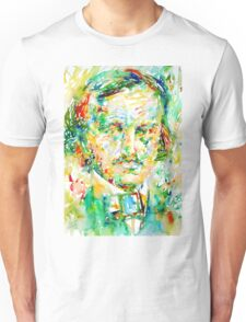 EDGAR ALLAN POE watercolor portrait.1 Unisex T-Shirt