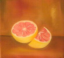 Grapefruit Anthony Mitchell Oil Painting by Anthony Mitchell