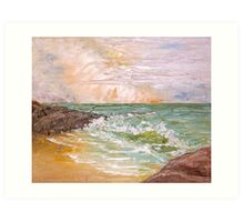 Seascape Anthony Mitchell Oil Painting Art Print