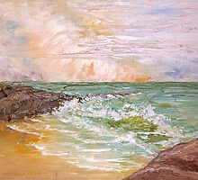 Seascape Anthony Mitchell Oil Painting by Anthony Mitchell