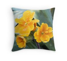 Spring Pansies (Viola) Throw Pillow