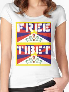 Free Tibet Women's Fitted Scoop T-Shirt