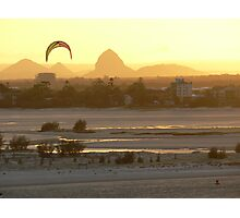 Glass House Mountains at Sunset Photographic Print