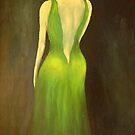 Woman in a green dress by Birgit Schnapp