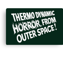 outer space horror Canvas Print