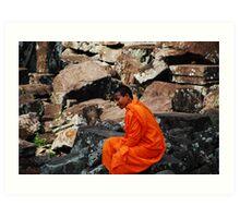 Angkor Monk Art Print