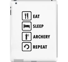 Eat Sleep Archery Repeat Stick Man Shirt  iPad Case/Skin