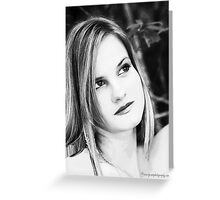 Headshot black white Greeting Card