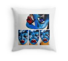 Jigsaw sketch  Throw Pillow