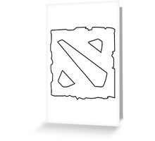 Dota 2 Logo [Empty] Greeting Card