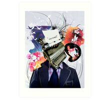 End Novel Art Print