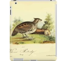 James Audubon Vector Rebuild - The Birds of America - From Drawings Made in the United States and Their Territories V 1-7 1840 - Welcome Partridge iPad Case/Skin