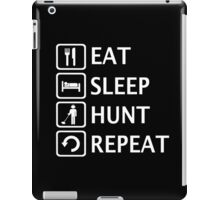 Eat Sleep Hunt Repeat Metal Detecting Joke Shirt iPad Case/Skin