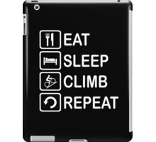 Eat Sleep Climb Repeat Cycling Funny Shirt iPad Case/Skin
