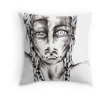 HEAD WOUND Throw Pillow