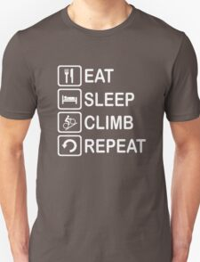 Eat Sleep Climb Repeat Cycling Funny Shirt T-Shirt