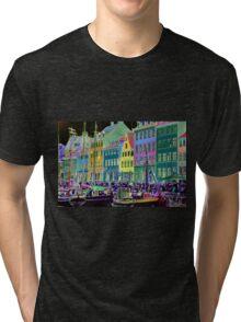 Copenhagen. Nyhavn Colors Tri-blend T-Shirt