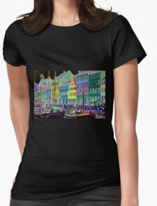 Copenhagen. Nyhavn Colors Womens Fitted T-Shirt