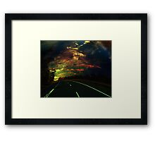 The lost highway Framed Print