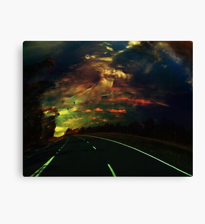The lost highway Canvas Print