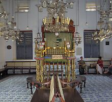 The pulpit inside the historic Jewish synagogue in Cochin, Kerala, India by ashishagarwal74