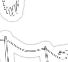 Birds on wire Sticker